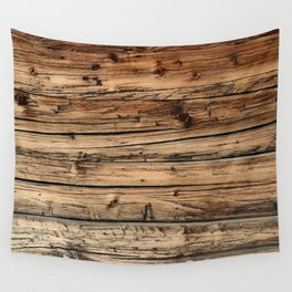 Old weathered pine wood Wall Tapestry