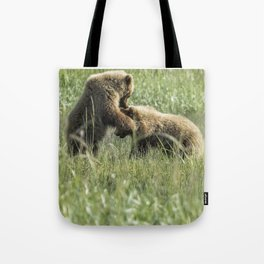 Brown Bear Cubs - The Provocation Tote Bag