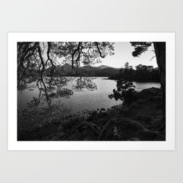 derwentwater through the trees from friars crag Art Print