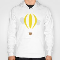 hot air balloon Hoodies featuring Hot Air Balloon Illustration by Rachel J
