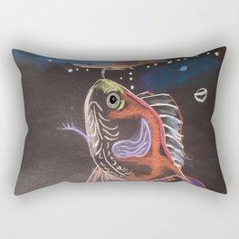 Goldfish Bubbles Rectangular Pillow