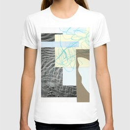 collage with map T-shirt