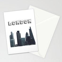 London, England, United Kingdom Downtown Skyline Stationery Cards
