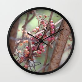 Rustic Perseverance Wall Clock