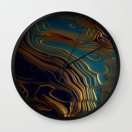 Peacock Ocean Wall Clock