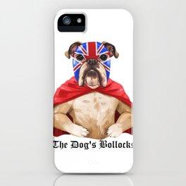 luchadog's bollocks iPhone Case