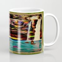 postcard Mugs featuring Postcard by Holly Williams