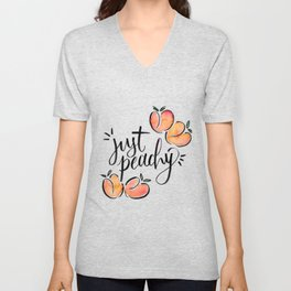 Just Peachy Unisex V-Neck