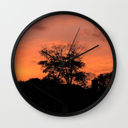 Treee on Fire Wall Clock