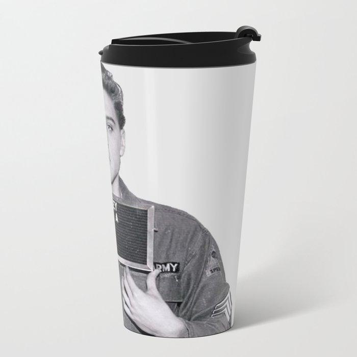 ELVIS PRESLEY - ARMY MUGSHOT Metal Travel Mug