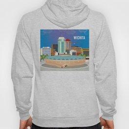 Wichita, Kansas - Skyline Illustration by Loose Petals Hoody