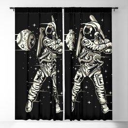 Space Baseball Astronaut Blackout Curtain