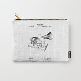 patent art Berliner Gramophone 1895 Carry-All Pouch