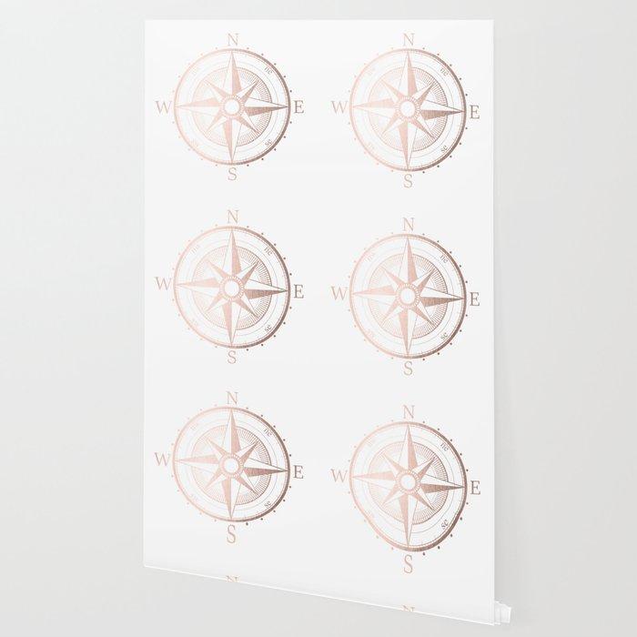 Rose Gold Compass Wallpaper