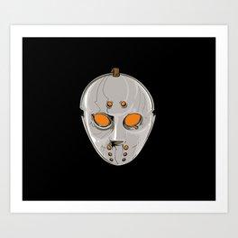 Hockey Goalie Mask Art Print