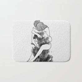I find peace in your hug. Bath Mat