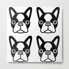 Boston Terriers by Blackburn Ink Metal Print