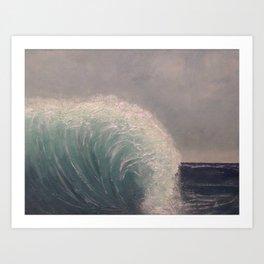 Waterfall Wave - original art textured painting by Tracy Sayers Trombetta Art Print