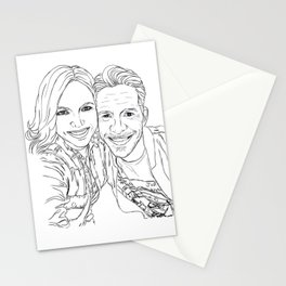 Sean and Lana Enchanted selfie (outline) Stationery Cards