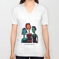 polkadot V-neck T-shirts featuring Polkadot gurlz by Giang Di Penguin
