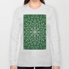 Single Snowflake - green Long Sleeve T-shirt