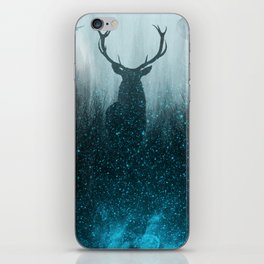 Snow Stag Silhouette iPhone Skin