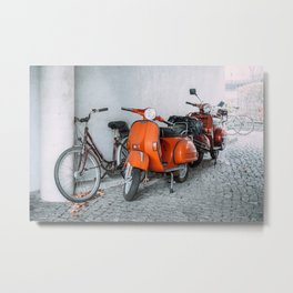 Let's go see the world on our Scooter Metal Print