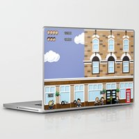 shaun of the dead Laptop & iPad Skins featuring 8bit Shaun Of The Dead by TheRandomFactory