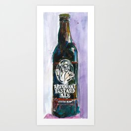 STONE ARROGANT BASTARD Beer Art Print - California Beer Art - Bar Room Art Print
