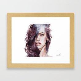 She's a moose. You're a chipmunk. Framed Art Print