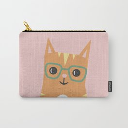 Tabby Cat with Glasses Carry-All Pouch