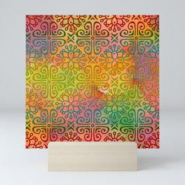 DP050-6 Colorful Moroccan pattern Mini Art Print