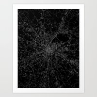 moscow Art Prints featuring Moscow by Line Line Lines