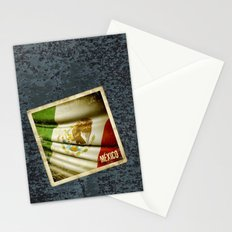 STICKER OF MEXICO flag Stationery Cards