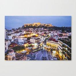 Athens Cityscape Fine Art Print Canvas Print