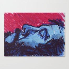 Saturated Colour Man Canvas Print
