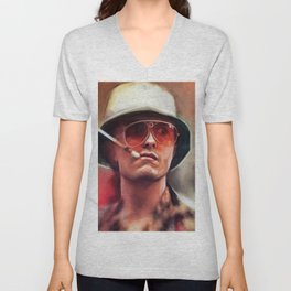 Hunter S. Thompson Smokes A Cigarette - Fear And Loathing In Las Vegas Unisex V-Neck