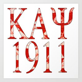 Kappa Alpha Psi 1911 Triangle Design Art Print