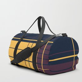 Abstract graphic I Dark blue Purple Yellow Duffle Bag