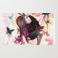 sandman Area & Throw Rugs featuring Delirium, The Sandman by Anguiano Art