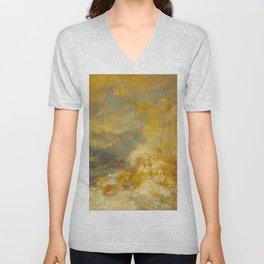"""J.M.W. Turner """"A Disaster at Sea"""" Unisex V-Neck"""
