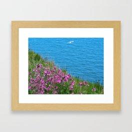 Wild Flowers on the Cliff Top Framed Art Print