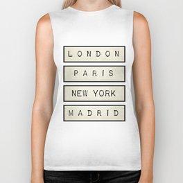 London | Paris | New York | Madrid Biker Tank