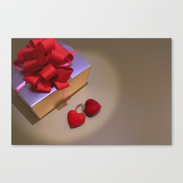Love Gift and Valentine's Day Image Canvas Print