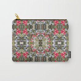 Very Berry Holly Christmas Multi Fractal from Photo 804 Carry-All Pouch