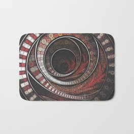 Beautiful Striped Fractal Circles, the Thousand and One Rings of the Circus Bath Mat