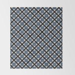 Black and blue tartan Throw Blanket