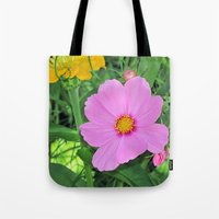 cosmos Tote Bags featuring Cosmos by Bella Mahri-PhotoArt By Tina