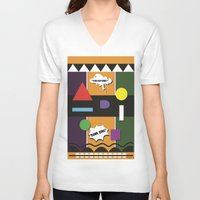 lydia martin V-neck T-shirts featuring Martin  by TheArtGoon