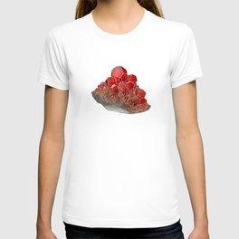 Garnet- January birthstone crystal gemstone specimen painting T-shirt